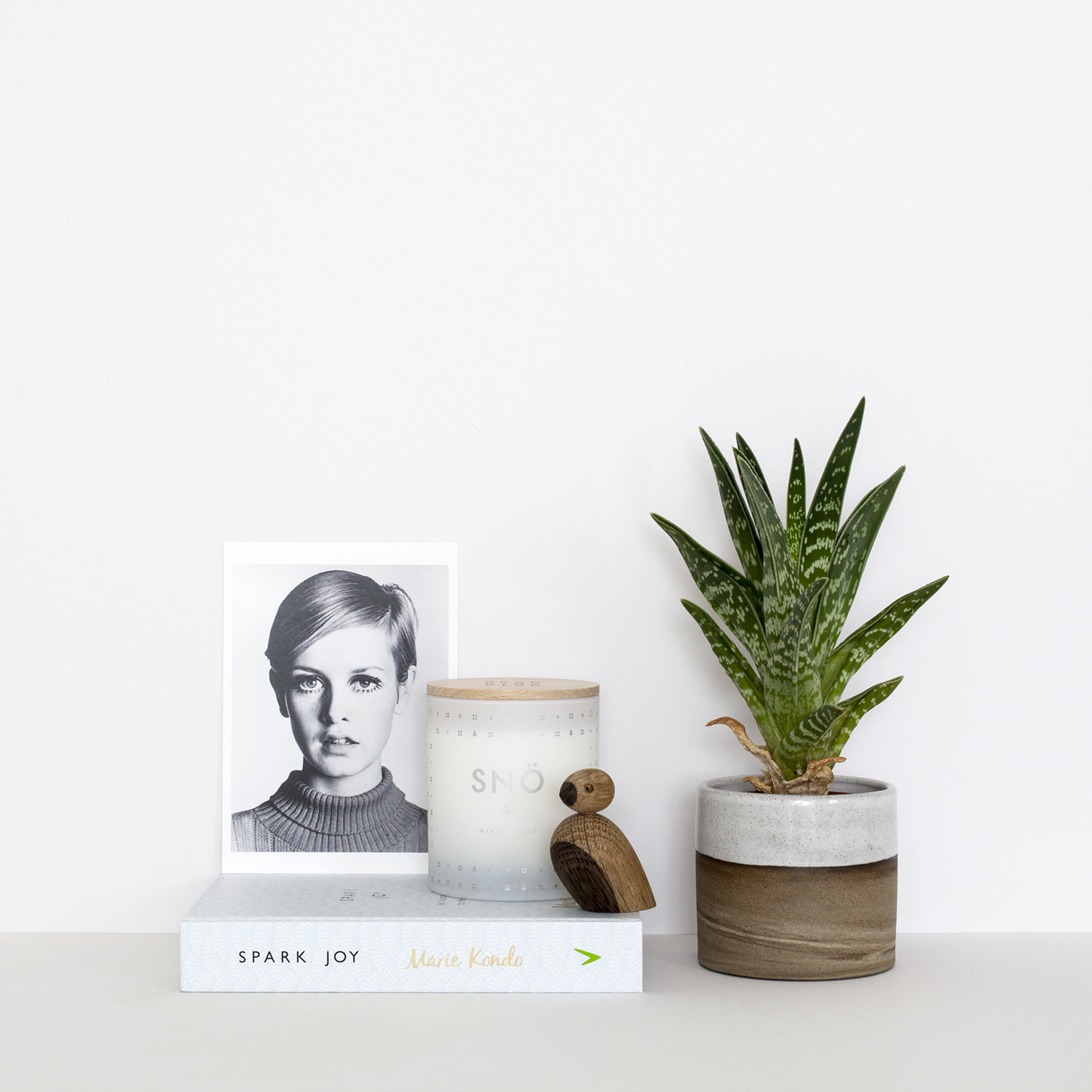 The Benefits of Taking a Week Offline | Photo of a plant, book and Twiggy postcard | natashadenness.co.uk