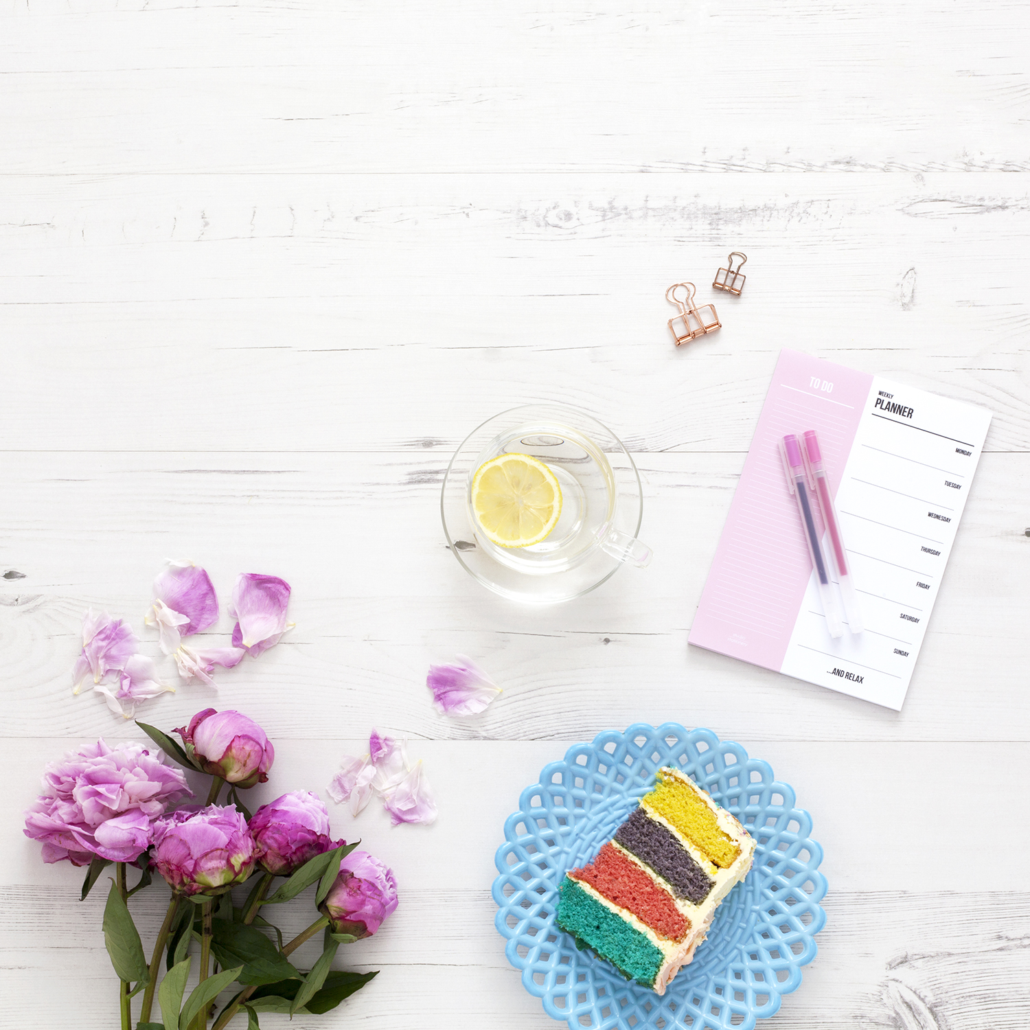 Practical Tips to Help You Reach Your Goals | natashadenness.co.uk (Photo of a piece of rainbow cake)