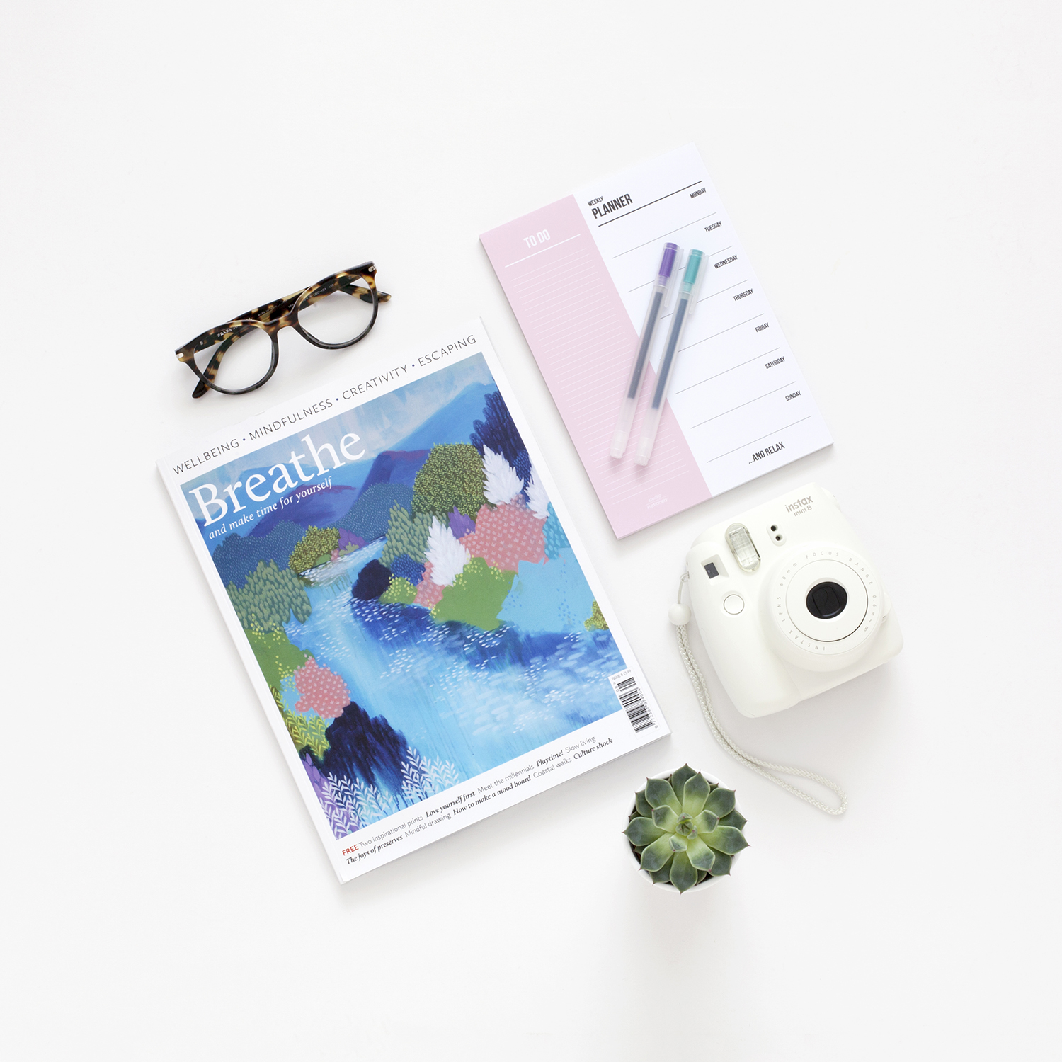 How to Utilise Your Life Experience and Transferable Skills | Photo of a magazine, to-do list and pens | natashadenness.co.uk