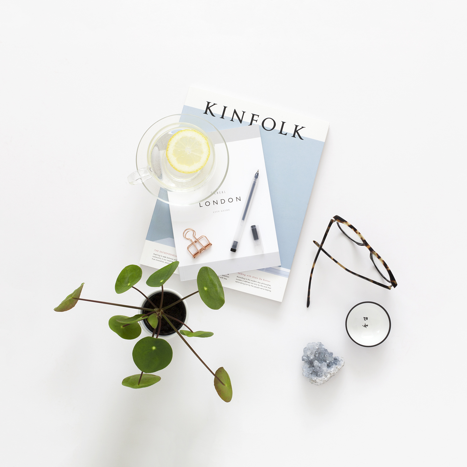 Useful Tips from 12 Successful Creative Business Owners | Natasha Denness Coaching | natashadenness.co.uk (Photo of an office flat lay)