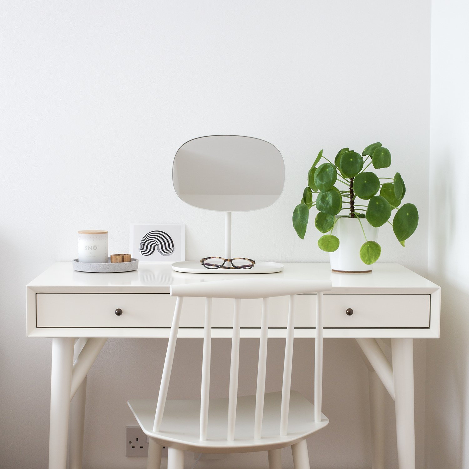 How to Maximise Your Space in a Small Home | Natasha Denness Coaching (photo of a white dressing table)