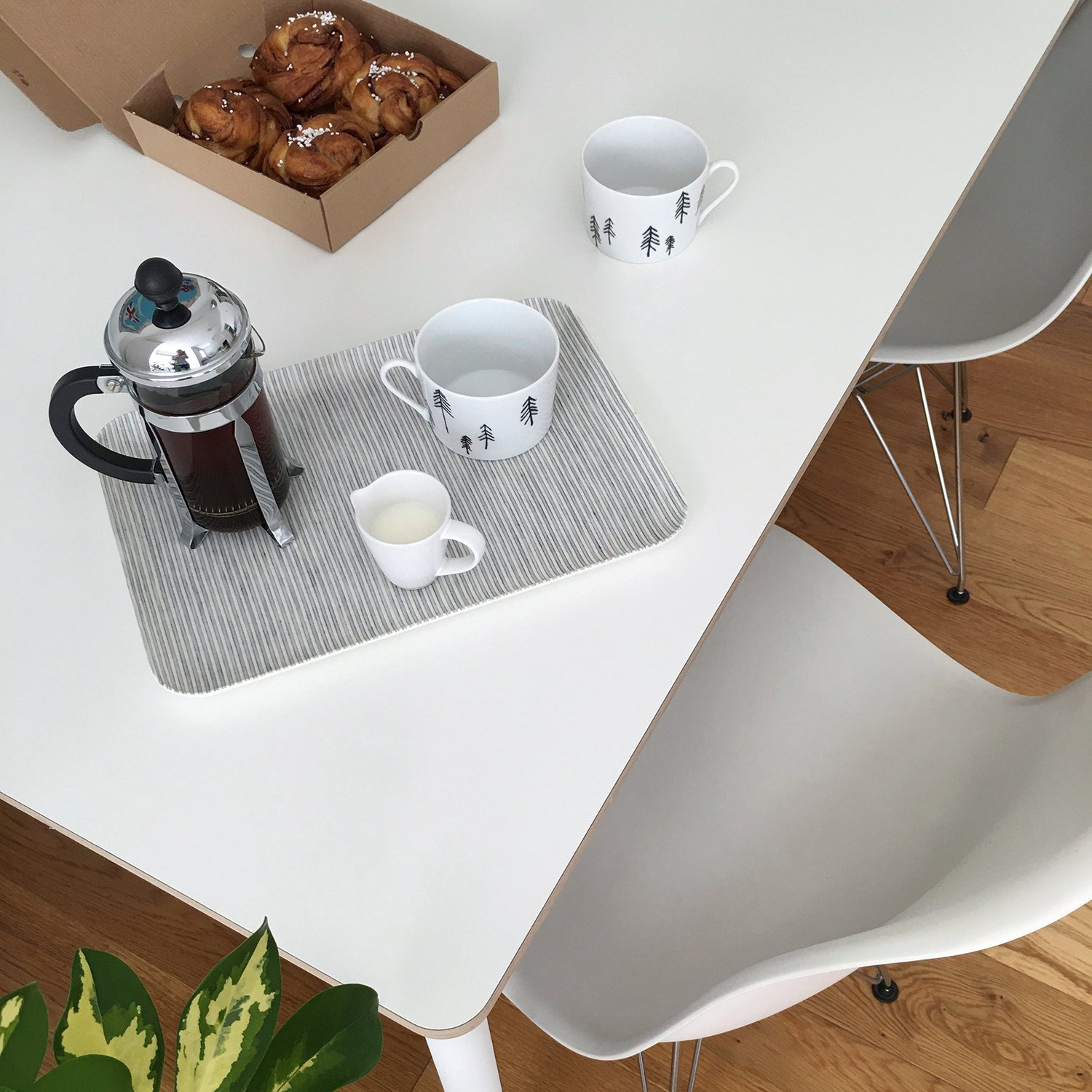 How to Maximise Your Space in a Small Home | Natasha Denness Coaching (photo of coffee and cinnamon buns)